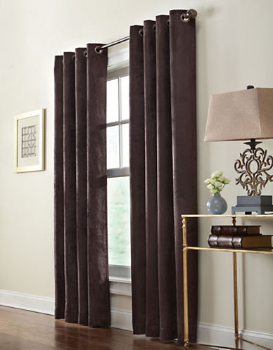 Commonwealth Home Fashions Navar Faux Suede Panel-BROWN-95 inches