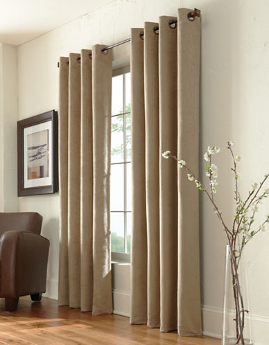 Commonwealth Home Fashions Navar Faux Suede Panel-TAUPE-95 inches