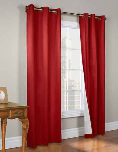 Commonwealth Home Fashions Energy-Saving Blackout Curtain Panel-RED-95 inches