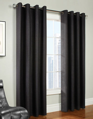 Commonwealth Home Fashions Trenton Mini Check Panel-CHARCOAL-95 inches