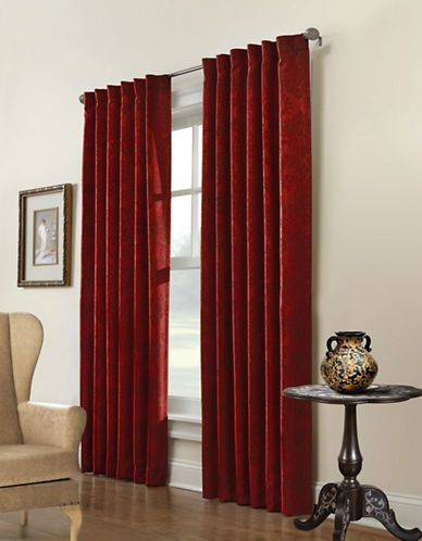 Commonwealth Home Fashions Large Belgique Embossed Panel-BURGUNDY-One Size