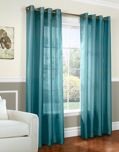 Home Outfitters Faux Silk Curtains-TEAL-One Size