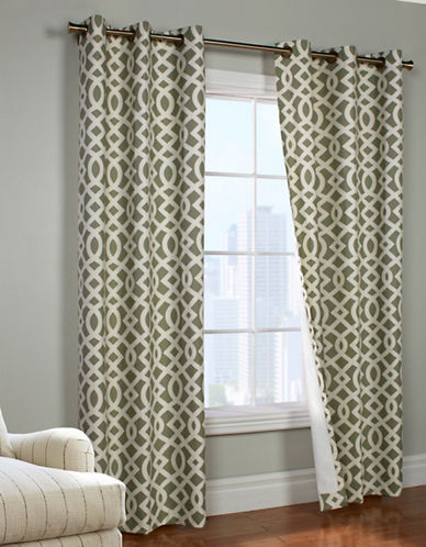 Commonwealth Home Fashions Trellis Printed Curtain Panel-SAGE-95 inches