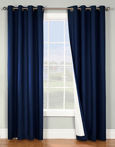 Home Outfitters Thermaplus Energy-Saving Curtain Pair-NAVY-84 inches