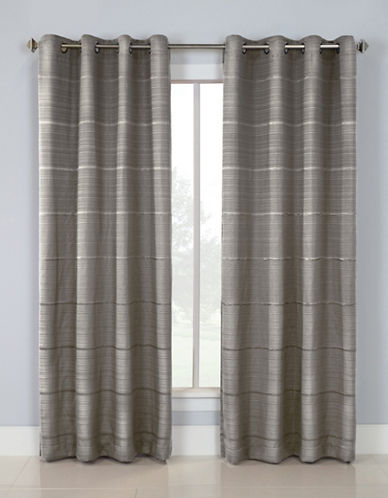 Distinctly Home Linear Blackout Grommet Top Window Panel-GREY-84 inches