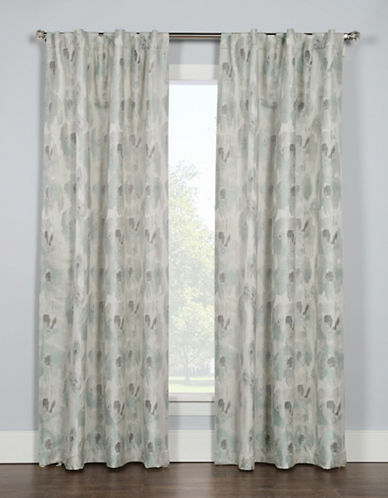 Glucksteinhome Briare Dual Top Drapery Panel-MIST-96 inches