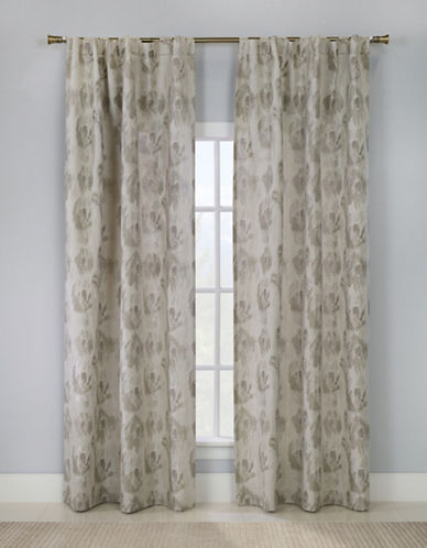 Glucksteinhome Briare Dual Top Drapery Panel-TAUPE-96 inches