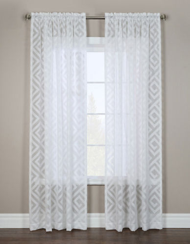 Glucksteinhome Adler Rod Pocket Window Panel-WHITE-96 inches