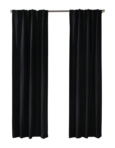 Distinctly Home Cite Drape-BLACK-96 inches