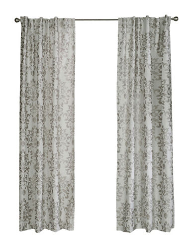 Home Studio Rochelle Jacquard Drape-GREY-96 inches