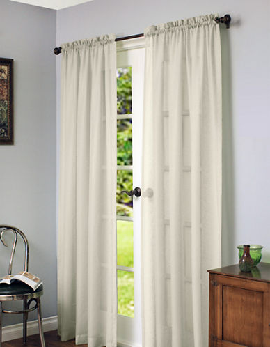 Home Studio Cote DAzure Faux Linen 84in Window Panel-IVORY-84 inches