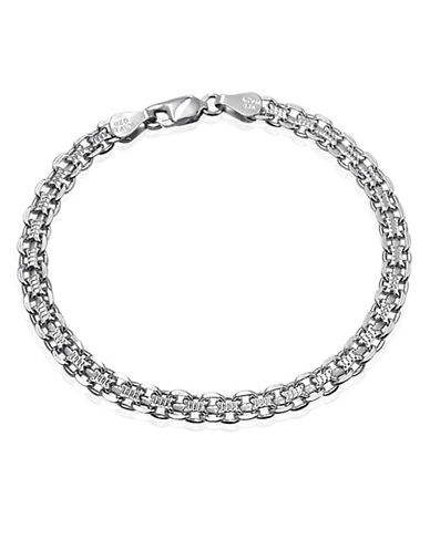 Expression Sterling Silver Sterling Silver Textured Box Chain Bracelet-SILVER-7