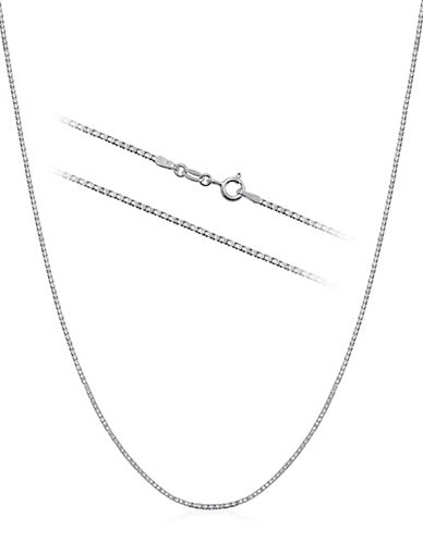 Expression Sterling Silver Sterling Silver 16-Inch Box Chain Necklace-SILVER-16