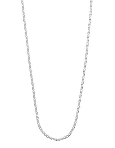 Expression Sterling Silver 18 Medium Box Necklace Chain-SILVER-20