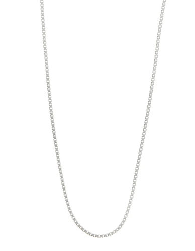 Expression Sterling Silver 20 Sterling Silver Box Chain Necklace-SILVER-20