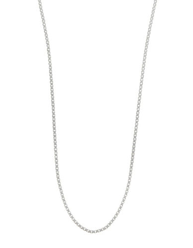 "Expression Sterling Silver 24"" Sterling Silver Box Chain Necklace-SILVER-24"