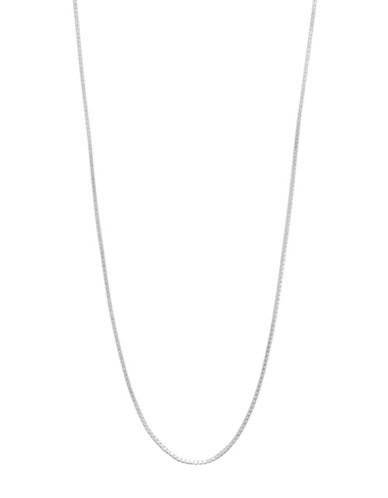 Expression Sterling Silver 16 Sterling Silver Mini Box Chain Necklace-SILVER-16