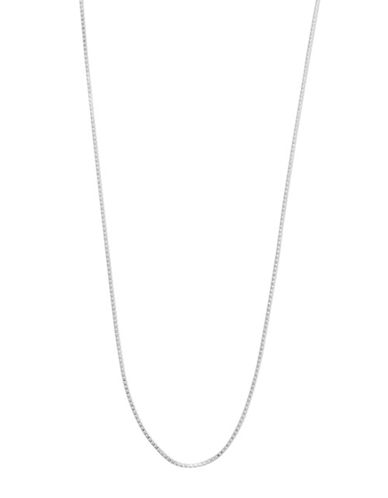 Expression Sterling Silver 20 Sterling Silver Mini Box Chain Necklace-SILVER-20