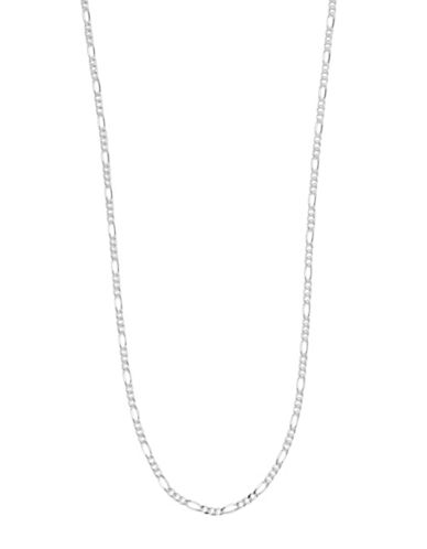 Expression Sterling Silver Sterling Silver Figaro Necklace-SILVER-30