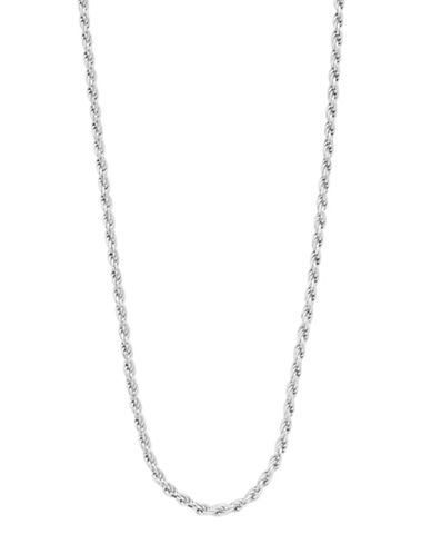 Expression Sterling Silver Sterling Silver D-Cut Rope Necklace-SILVER-30