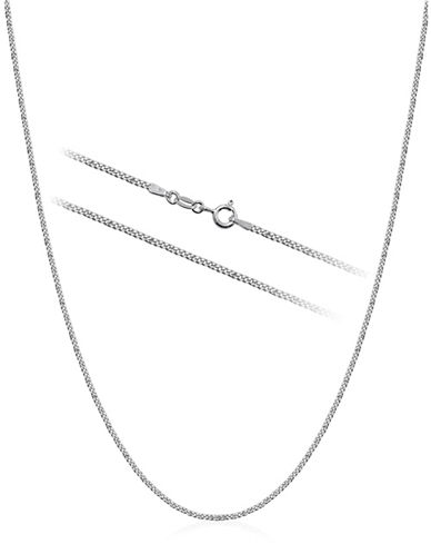 Expression Sterling Silver Sterling Silver 16-Inch Curb Chain Necklace-SILVER-16