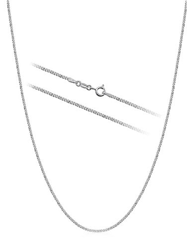 Expression Sterling Silver Sterling Silver 18-Inch Curb Chain Necklace-SILVER-18