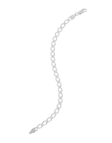 Expression Sterling Silver Sterling Silver Double Link Bracelet-SILVER-One Size