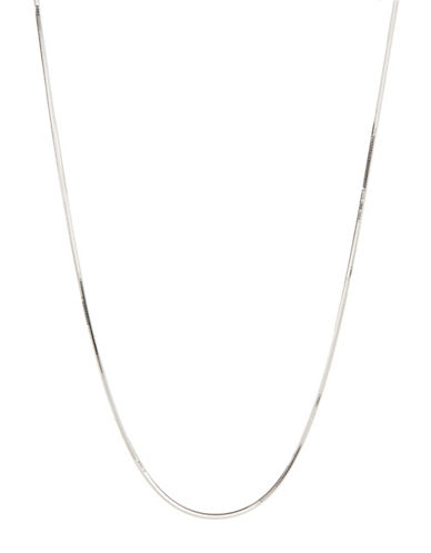 Expression Sterling Silver Sterling Silver Side Mirror Snake Chain Necklace-SILVER-One Size