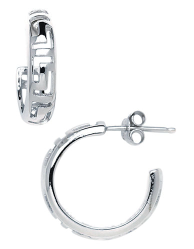Expression Sterling Silver Sterling Silver Greek Key Earrings-SILVER-One Size