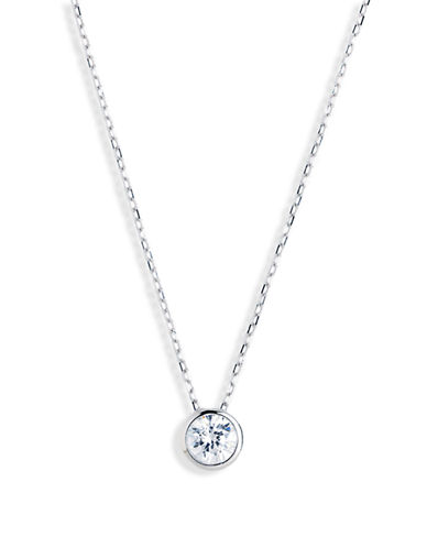 Expression Sterling Silver Sterling Silver Round Cubic Zirconia Pendant-SILVER-One Size 23820293_SILVER_One Size
