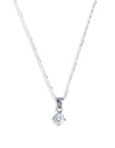 Expression Sterling Silver Sterling Silver Round Cubic Zirconia Pendant-SILVER-One Size 23757487_SILVER_One Size