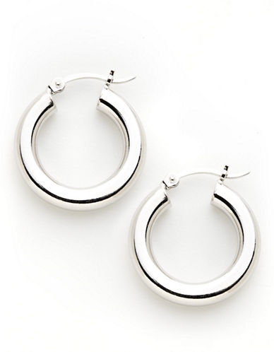 Expression Sterling Silver Sterling Silver hoop earrings-SILVER-One Size