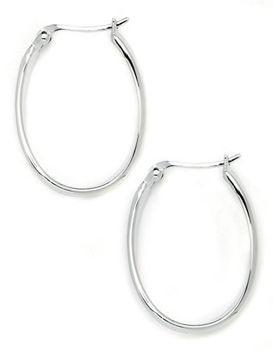 Expression Sterling Silver Sterling Silver  Wavy Hoop Earrings-SILVER-One Size