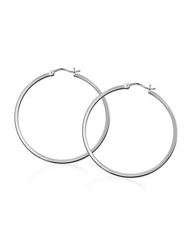 Expression Sterling Silver Sterling Silver Square Hoop Earrings-SILVER-One Size
