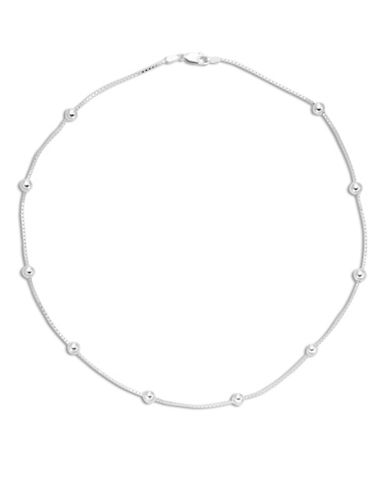 Expression Sterling Silver 16-Inch Sterling Silver Beaded Chain-SILVER-One Size