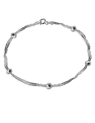 Expression Sterling Silver Sterling Silver Station Anklet-SILVER-One Size