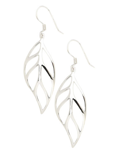 Expression Sterling Silver Sterling Silver  Leaf Earrings-NO COLOUR-One Size