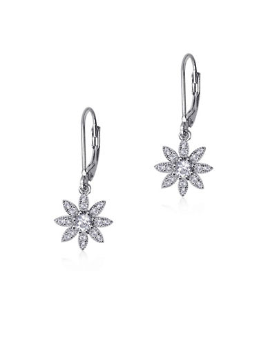 Expression Sterling Silver Sterling Silver Floral Earrings-SILVER-One Size