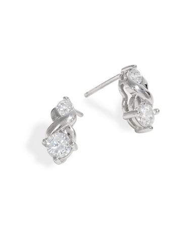 Expression Sterling Silver Sterling Silver Twist Earrings-SILVER-One Size