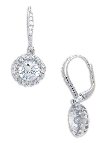Expression Sterling Silver Sterling Silver Cubic Zirconia Earrings-SILVER-One Size