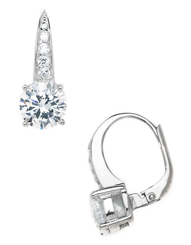 Expression Sterling Silver Sterling Silver Cubic Zirconia Earrings-CRYSTAL-One Size 81452310_CRYSTAL_One Size
