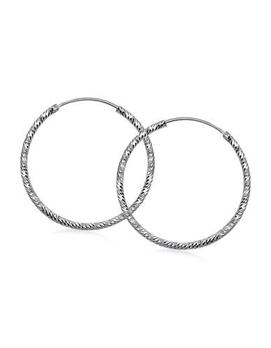 Expression Sterling Silver Sterling Silver Twisted Hoop Earrings-SILVER-One Size