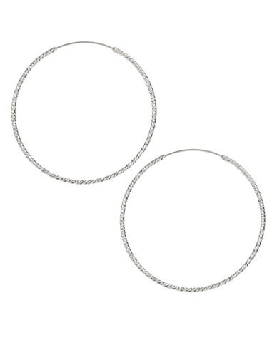 Expression Sterling Silver Sterling Silver Diamond-Cut Hoops-SILVER-One Size