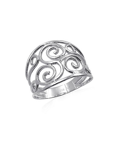 Expression Sterling Silver Open Filigree Wire Ring-SILVER-One Size