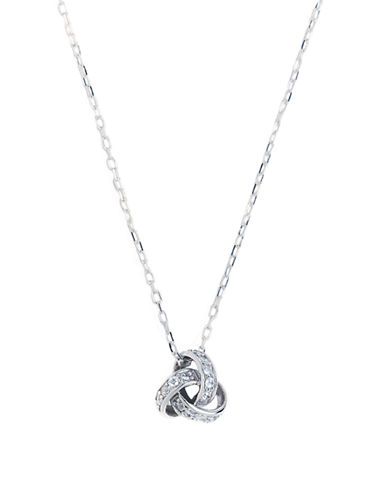 Expression Sterling Silver Sterling Silver Love Knot Pendant-SILVER-One Size