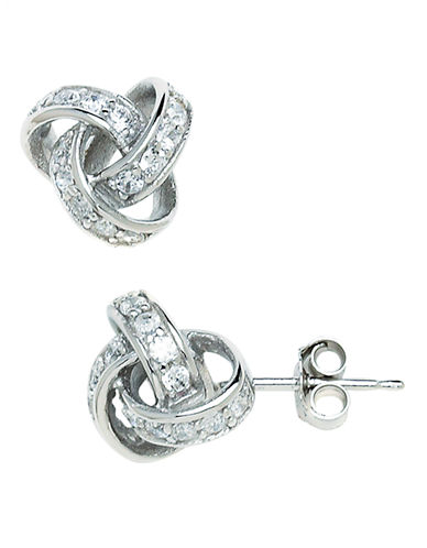 Expression Sterling Silver Sterling Silver Love Knot Earrings-SILVER-One Size