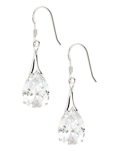 Expression Sterling Silver Sterling silver drop earrings-CRYSTAL-One Size