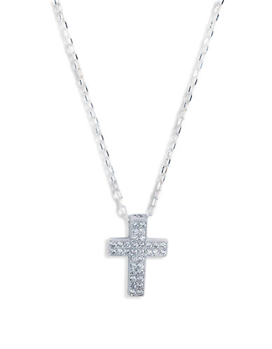 Expression Sterling Silver Sterling Silver Cross Pendant-SILVER-One Size