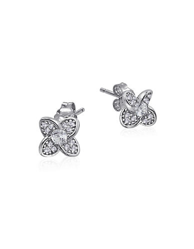 Expression Sterling Silver Floral Sterling Silver Stud Earrings-SILVER-One Size