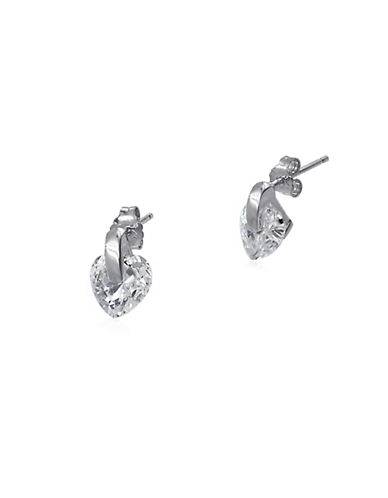 Expression Sterling Silver Heart Bead Sterling Silver Stud Earrings-SILVER-One Size